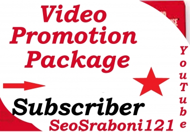 YouTube Video Promotion package & Real Works