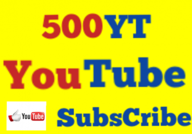 Fastest Add 500 High Quality Non Drop Youtube Subs cribers Super Speed