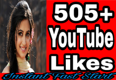 Guaranteed 500 To 600 YouTube Likes 10-20 minute in complete