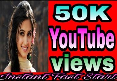 Safe 50,000+H,Q YouTube Views+200 Extra Likes Bonus Just
