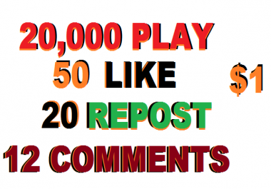 20,000 USA PLAY Promotion+50 LIKE+20 REPOST+12 COMMENTS