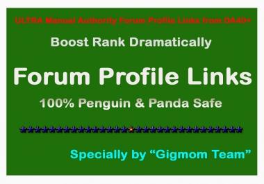 ULTRA DOFOLLOW 200 Forum Profile Links DA40+ to Rank First On Google