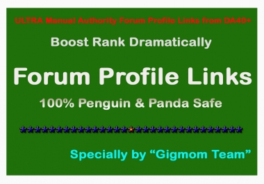 ULTRA DOFOLLOW Manual 100 Authority Forum Profile Links from DA40+ to Boost Rank
