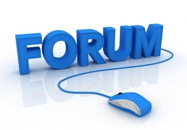 create a mix of 20 posts & threads for your forum