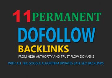 Build 11 High PR PA DA TF CF 40+ to 15, Homepage PBN Quality Backlinks