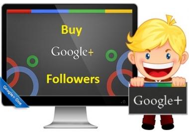 Get Real Human Permanent Service 120 US Based Google Plus Circle Followers