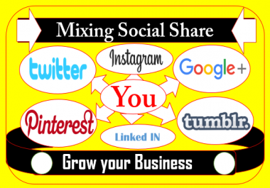 Promote your website by Mixing social share drip feeding and schedule post my social networks