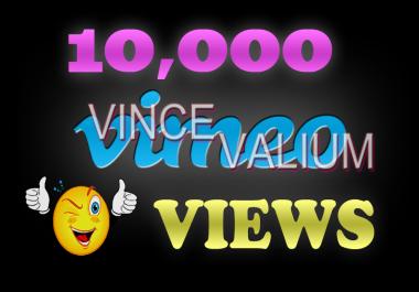 Instant 10,000 Vimoe Views in under 12 hours