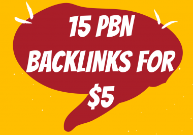 CHEAPEST PBN SERVICE - 15 Homepage PBN Backlinks on High Trustflow Domains