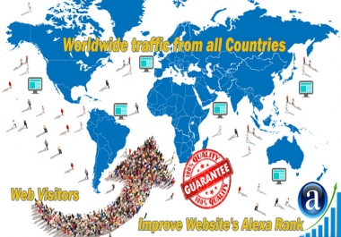 Send you 15.000 real worldwide website traffic visitors