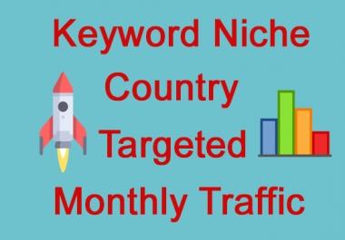 Keyword Targeted Monthly Website Traffic