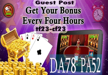 do guest post and write on da78 gambling site