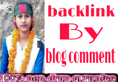 High quality 30 backlink by blog comment