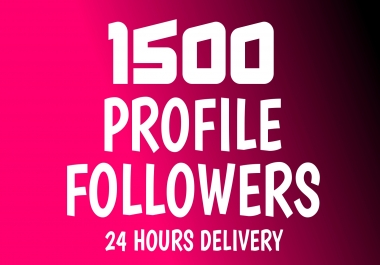 Add Fast 1500+ Profile Followers High Quality NON DROP