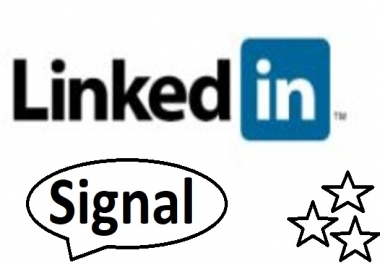 1300+ Linkedin Signal for your website in short time