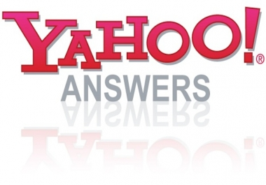 7 Yahoo Answers with your website link From 4 level Account
