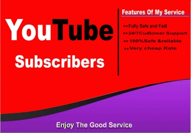 I will add 500+ Youtube Subs cribers with fast delivery