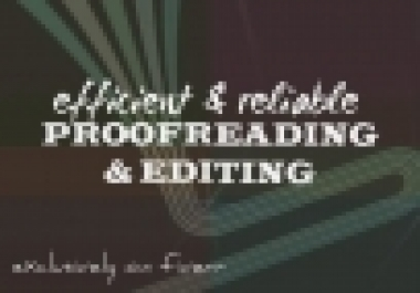 Proofread And Edit Any Type Or Writing