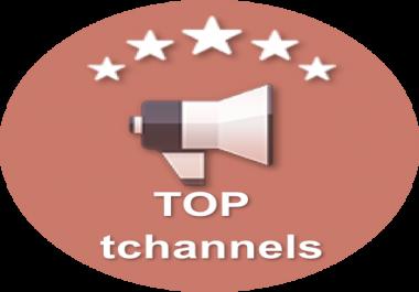 100 votes to promote telegram channel in tchannels