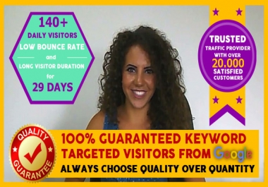 Send Keyword Targeted SEO Search Engine Traffic with Long Stay Time Duration and Low Bounce Rate