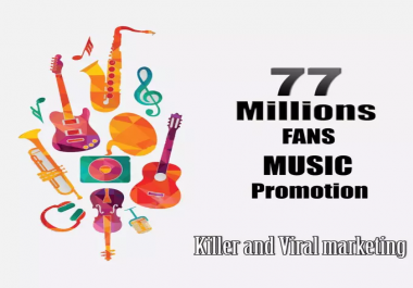 do the best music promotion to over 70 Million music listeners