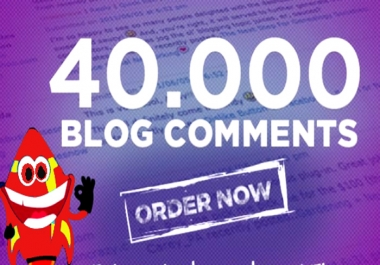40,000 SEO Blog Comments Backlinks,Rank HIGH on Google by Link building