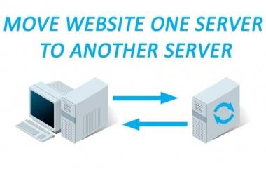 move website, transfer website new host or domain