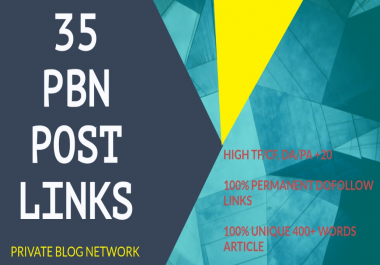 35 Homepage High Quality Dofollow Pbn Backlinks