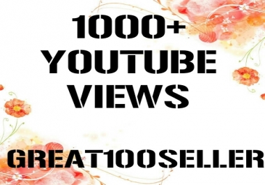1000+  to 2000+ You Tube Views super fast delivery