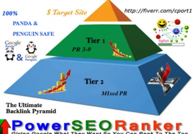 build the ultimate 13500 contextual DOFOLLOW backlink pyramid with PR3 to PR9 Blog Posts on Multiple Class C ips !!