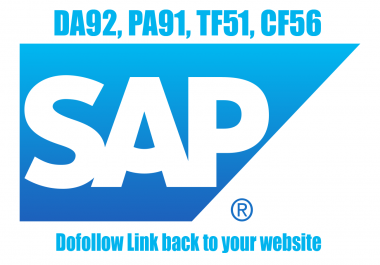 Guest post on SAP blog, technology niche only, DA92, TF53