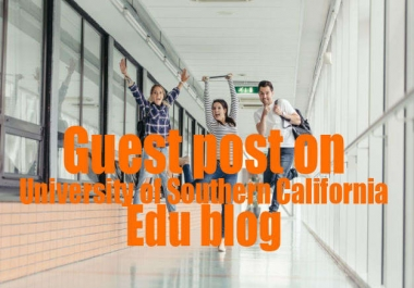 Write and guest post on edu blog, DA90, TF79, dofollow backlink