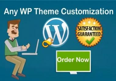 Do any wordpress theme customization