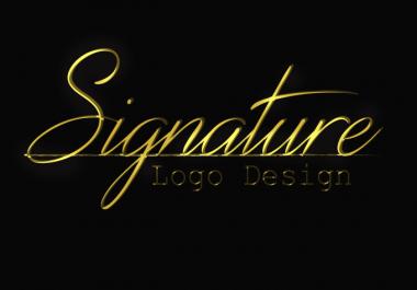 Make  5 signature Logo