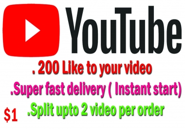 Start Instant 200 +Likes  Super Fast delivery