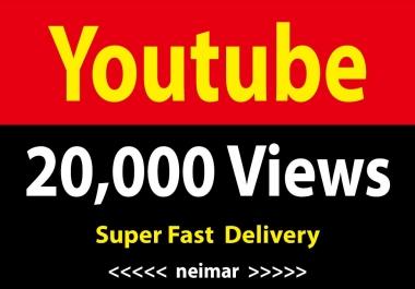 instant 20,000 / 20k Vieews Lifetime Non Drop Guarantee Super Fast Delivery