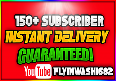 150 Instant Subscribers in 12 / 24 Hrs! ( Instant Start ) ( No Drop )