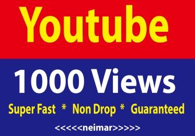 1000 Youtube High Retention Vi ews Non Drop Lifetime Guaranteed
