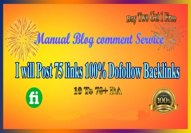 Post 75 Blog Comments Dofollow Backlinks Seo