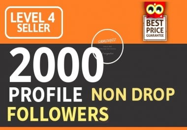 Add 2000+ High Quality Fast Profile Followers PERMANENT GUARANTEED
