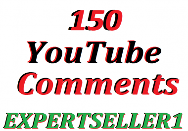 Limited Offer 150 YouTube Custom Comment to make Attractive your Video