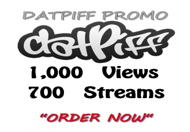 1,000 views + 700 streams for datpiff mixtape