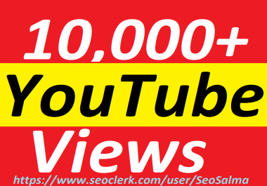 Safe/Add 10,000+ Non Drops YouTube Views +100 Real YouTube Subscribers Bonus