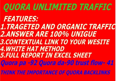 Promote Your Website By HQ 50 QUORA  With contextual  link