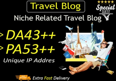Do Guest Post In DA43 Travel Blog