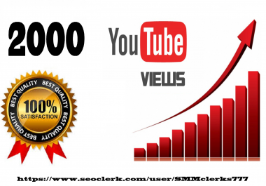 2000 High Quality Views Fully safe and Fast Delivery