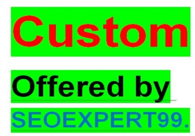 Custom offer only for my permanent client