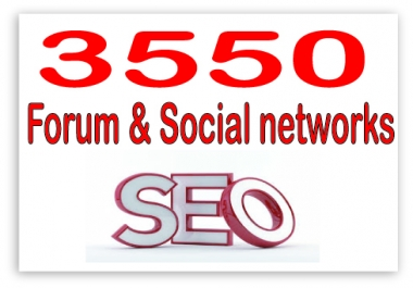 Create 3550 Forum & social networking  Highly Authorized Google Dominating Backlinks