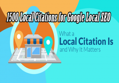 2018 Spacial Offer Create 1500 Local Citations for Google Local SEO