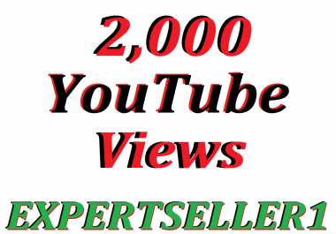 Limited Offer 2,000 HQ Non Drop YouTube Views In Your Video Refill Guarantee